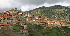 Dimitsana is a mountain village in Arcadia, Peloponnese. It is built on a mountain slope at an elevation of 950 m. Beautiful Islands, Beautiful Places, Greece Destinations, Mountain Village, Sandy Beaches, Vacation Spots, Paris Skyline, Places To Go, Dolores Park