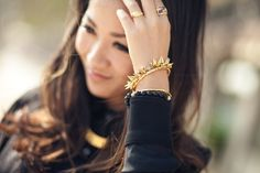 Featuring the spiky and sexy Renegade Bracelet by Stella & Dot. Shop: www.stelladot.com/BrittanyLeischner