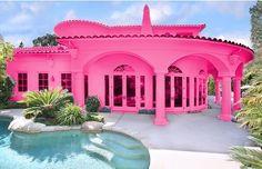 Pink summer-house