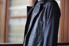 Undercover's Jun Takahashi for Uniqlo biker jacket #style #fashion #men #black #clothing #leather #jacket