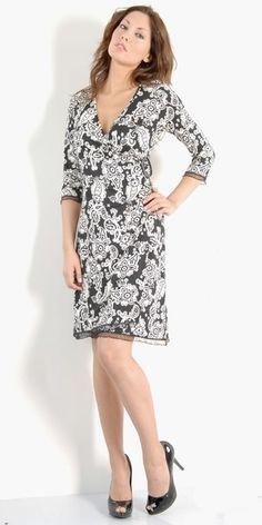 Rochie petrecuta Papillon Wrap Dress, Dresses For Work, Casual, Pattern, Fashion, Moda, Fashion Styles, Patterns, Model