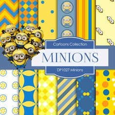 Minions Digital Paper DP1027 - Digital Paper Shop - 1