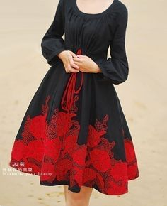 I love the red on black and just how airy this looks