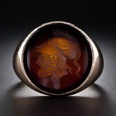 Gents Intaglio Hardstone Ring - 30-1-4993 - Lang Antiques