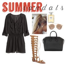 """Summer"" by alexandrinapetrova ❤ liked on Polyvore featuring H&M, Vince Camuto, Givenchy, Christian Dior, Chanel and summersandals"