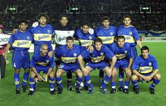 Final Intercontinental 2000 versus Real Madrid.... Ibarra, Bermudez, Cordoba, Riquelme, traverso y Matellan. Serna, Battaglia, Palermo, Delgado y Basualdo.