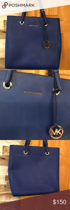 Micheal Kors Micheal Kors new without tags blue tote purse, 13 1/2 ins tall, 13 1/2 in across and 3 1/2 wide MICHAEL Michael Kors Bags Totes