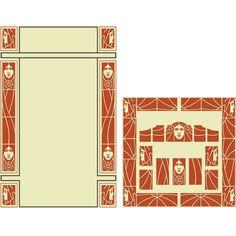 Art nouveau border 1