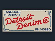 Detroit Denim Label by Chad B Stilson