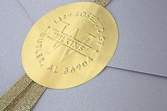 Wedding Paper Divas blog -- custom foil embossing seals