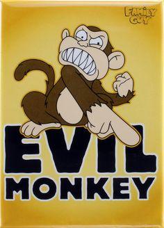 Evil Monkey Magnet