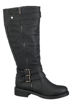 Weese Double Buckle Wide Calf Boot