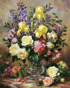 Bodegones de Flores Pintados al Óleo | Imágenes Arte Temático