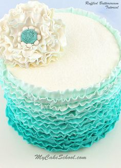 In this video, you will learn how to pipe beautiful buttercream ruffles around your cake with an ombre effect.