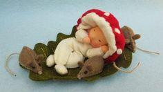 Baby P Boskabouter Waldorf Crafts, Waldorf Toys, Christmas Tree Kit, Dance Crafts, Felt Fairy, Felt Mouse, Tiny Dolls, Flower Fairies, Autumn Theme