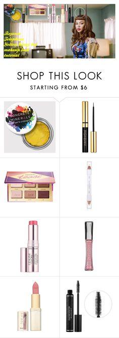Beyonce Telephone Yellow honey bee makeup look tutorial by oroartye-1 on Polyvore featuring beauty, Christian Dior, tarte, MAC Cosmetics, Estée Lauder, shu uemura and L'Oréal Paris