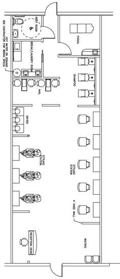 Beauty Salon Floor Plan Design Layout - 1400 Square Foot Places - bar business plan