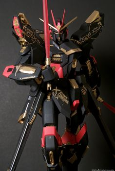 "Custom Build: PG 1/60 Strike Freedom Gundam ""Black Color scheme"" - Gundam Kits Collection News and Reviews"
