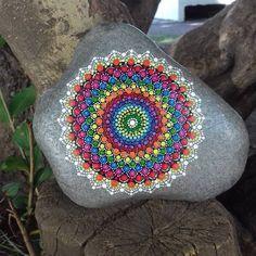 70 Likes, 5 Comments - Mariana Verónica ( Seashell Painting, Dot Art Painting, Pebble Painting, Pebble Art, Stone Painting, Mandala Art, Mandala Painting, Mandala Pattern, Pattern Art