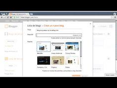 Cómo crear un blog con Blogger - Creando el blog de pruebas de iniciaBlog.com - YouTube