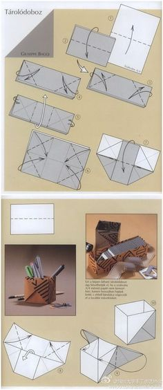 # Origami tutorial # need a box to hold things on paper folded, the acquisition of raw materials will be a lot easier to be regarded as the most commonly used paper friends. Box Origami, Origami Box Tutorial, Origami And Kirigami, Paper Crafts Origami, Diy Paper, Oragami, Origami Hearts, Dollar Origami, Origami Ball