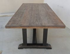 Dining Table Reclaimed Wood Trestle Table by VintageMillWerks
