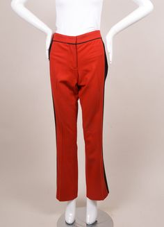 Red and Black Wool Trousers