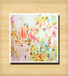 Handmade Pretties and Local Love .//. Abstract art print only $33