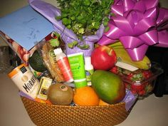 Fruit and Flower Basket for an anniversary gift.