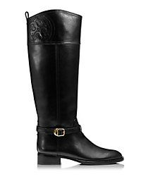 Black Tory Burch Marlene Riding Boot
