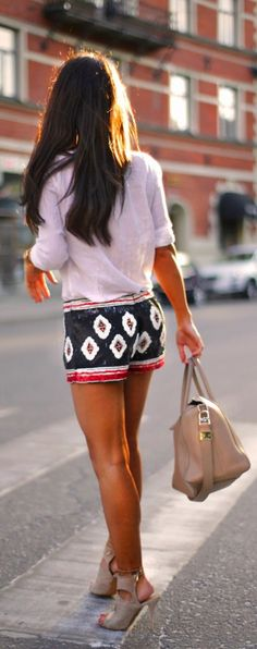 Casual Outfit, Shirt + Shorts