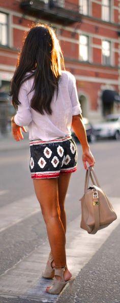 Beautiful Attractive Mini Short White Casual Shirt