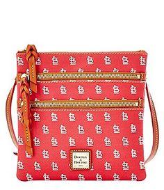 Dooney   Bourke MLB Collection St Louis Cardinals Triple Zip Cross-Body Bag  Cardinals Hat 7812e102d7dcf