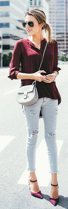 """""""Conjuntos con Jeans/Calzas"""" ~~Rosario Contreras~~"""
