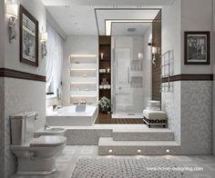 diseño de baños modernos con jacuzzi - Buscar con Google