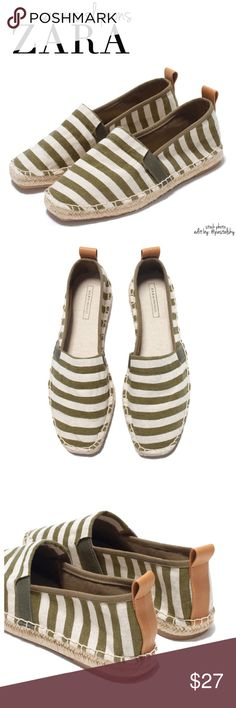 ZARA espadrille flats NEW with tags and in excellent condition. these striped, slip on, espadrille flats are perfect for the upcoming spring and summer months. original dust bag included.  details ∙ size 35/5  please don't hesitate to ask questions. happy POSHing 😊  💰 use offer feature to negotiate price 🚫 i do not trade or take any transactions off poshmark Zara Shoes Espadrilles