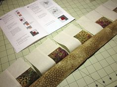 NOT! Your Typical Log Cabin Quilt Block Tutorial! Chain Piecing Log Cabin Blocks…
