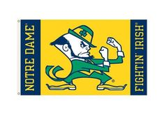 Notre Dame Fighting Irish Flag 3x5 Leprechaun