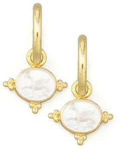 Elizabeth Locke Crystal Grifo Earring Pendants, Crystal on shopstyle.com
