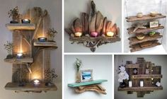Charming Unique Driftwood Shelves That Will Transform Your Home - The ART in LIFE