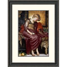 """Global Gallery 'Kittens by' Lord Frederick Leighton Framed Painting Print Size: 32"""" H x 24.49"""" W x 1.5"""" D"""