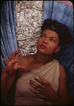 An artfully beautiful portrait of actress/singer Pearl Bailey.