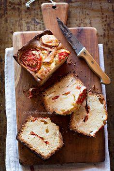 Cake de queso de cabra y tomate