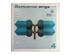 Erik Nitsche record album design 1952. Schlusnus by NewDocuments, $36.00