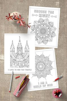These free LDS Coloring Pages are perfect for kids & adults! Use them for Sunday classes or just quiet afternoons at home! www.TeepeeGirl.com