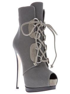 Giuseppe Zanotti Stiletto Boot in Gray (grey)