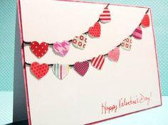 carte de St-Valentin DIY décorée de cœurs en papier