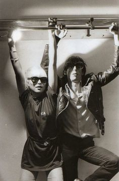 Debbie Harry and Iggy Pop.