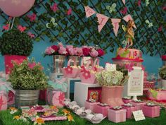 Amazing treats table at a fairy birthday party! See more party planning ideas at CatchMyParty.com!