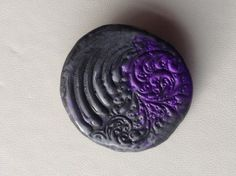 Purple and pewter swirl brooch £6.00